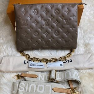NEW Louis Vuitton Coussin PM In Taupe Abd Gold Hardware 🤎🤎